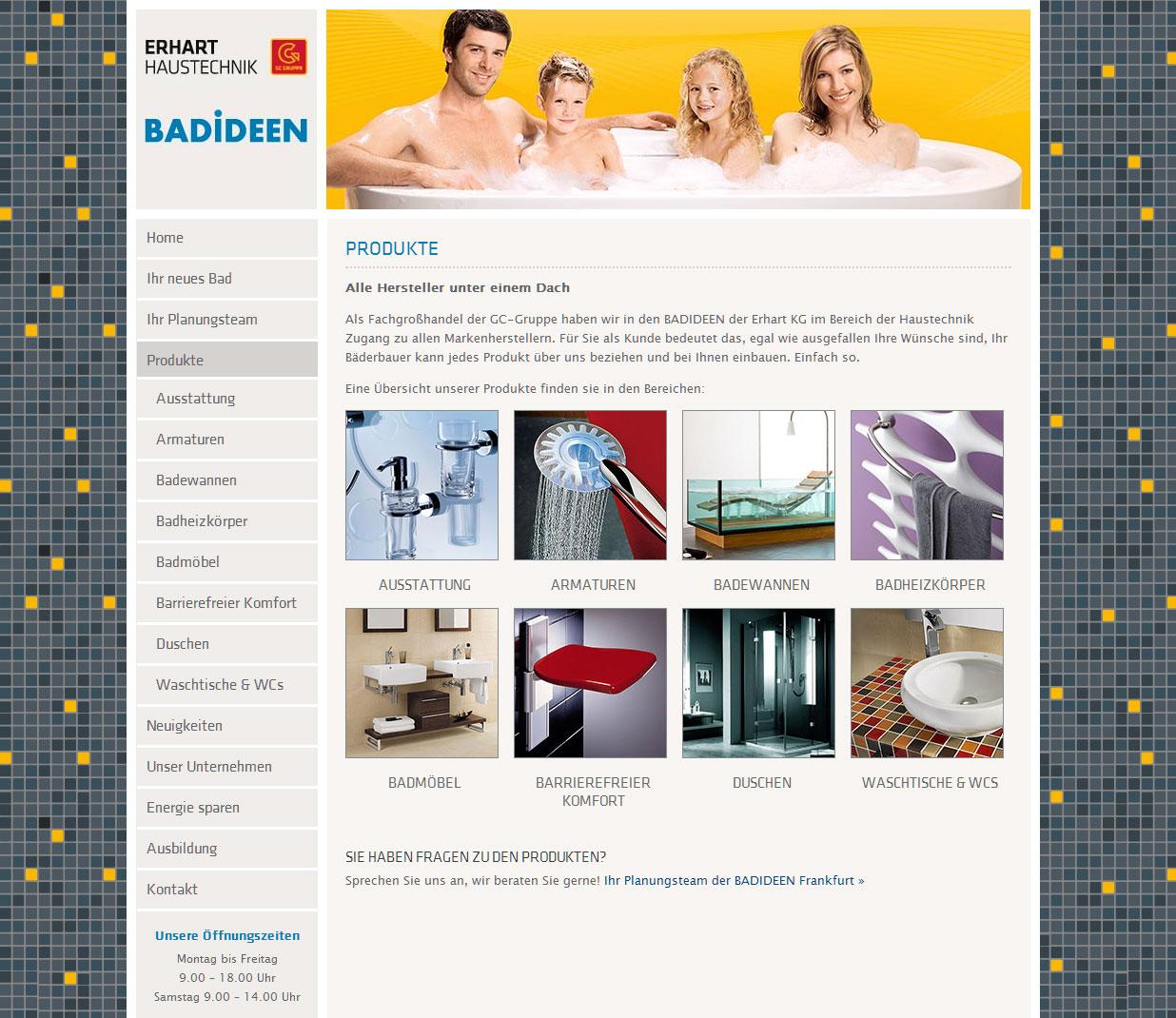 BADIDEEN Frankfurt - ERHART KG - neue Website