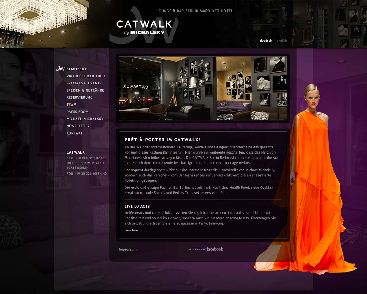 CATWALK Bar - Marriot Hotel Berlin - neue Website