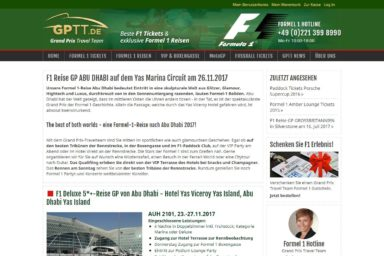 Grand Prix Travel Team - neue Website