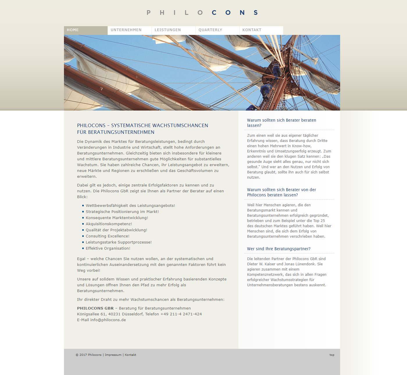 Philocons Unternehmensberatung - Website