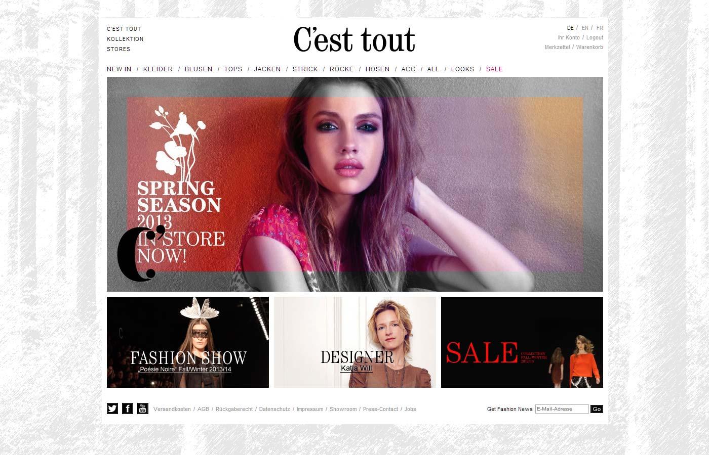 C'est tout - Website und Webshop