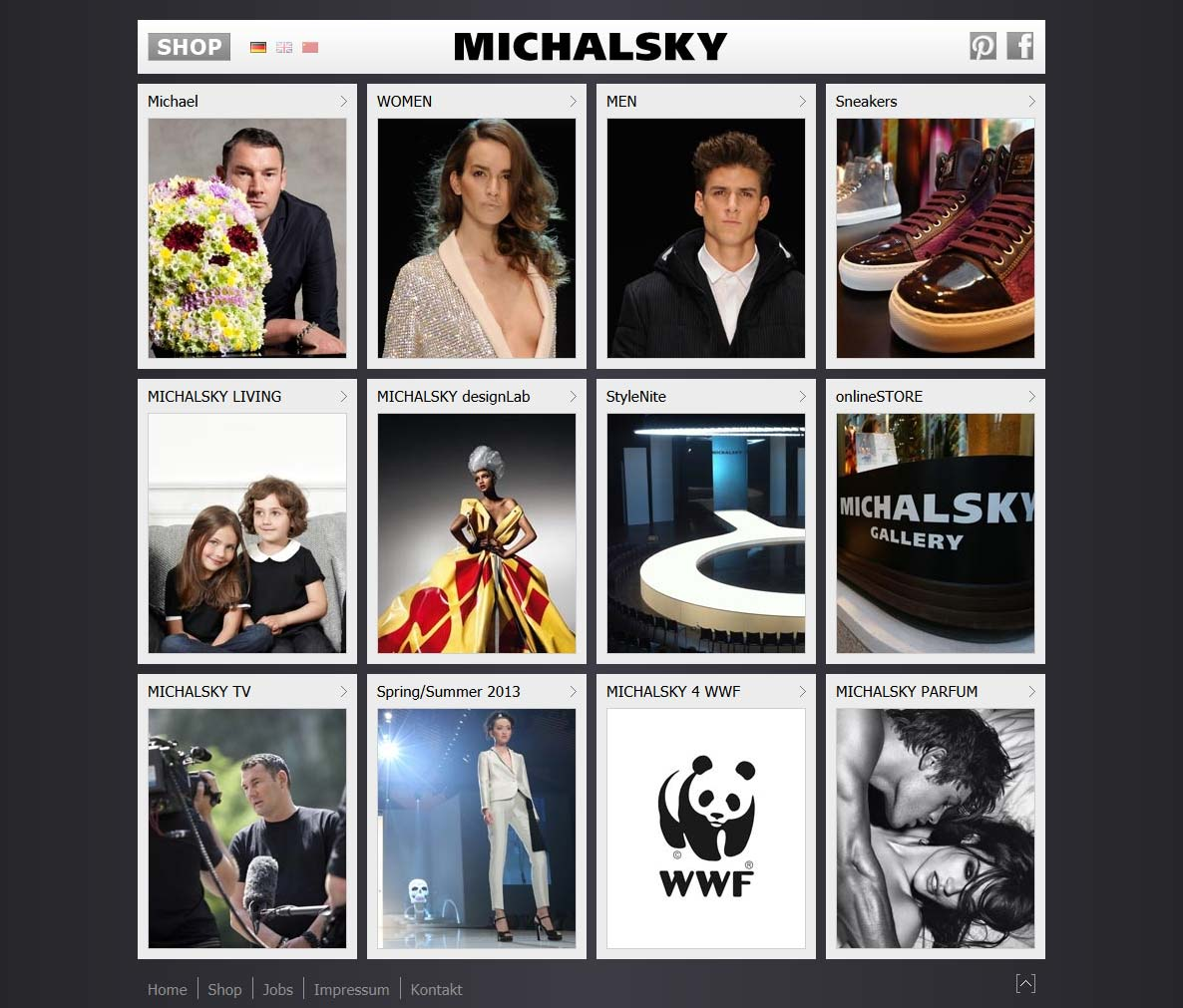 Michael Michalsky - Brand new website