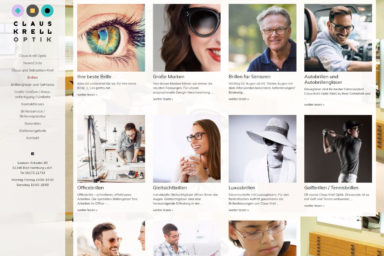 Claus Krell Optik, Bad Homburg - Neue Website 2017