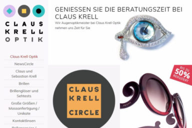 Claus Krell Optik, Bad Homburg - Neue Website 2017