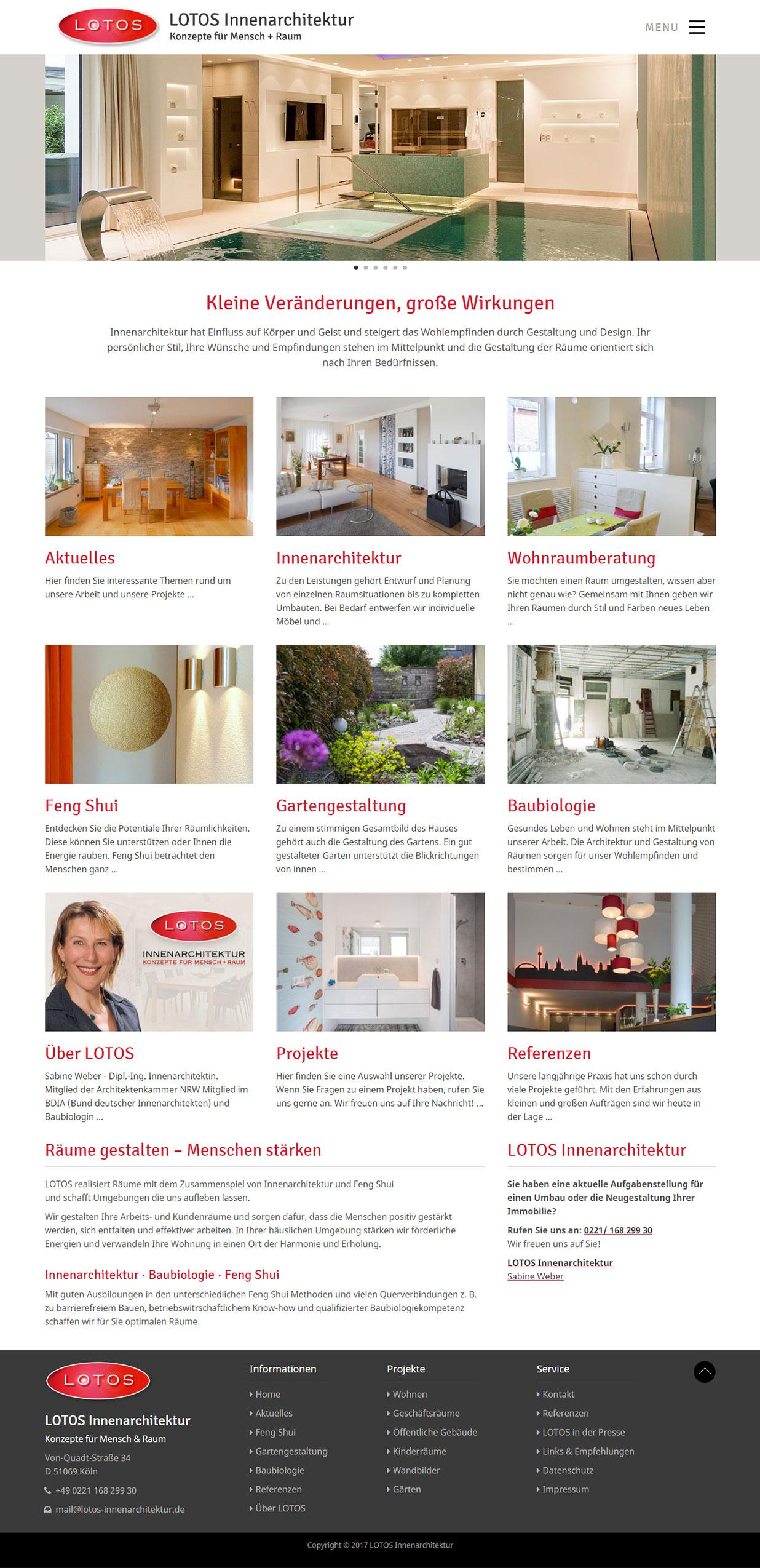 debleu -Website für LOTOS Innenarchitektur